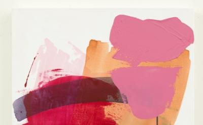 Carolanna Parlato, Burst, 2015, acrylic and molding paste on canvas, 30 x 24 inc