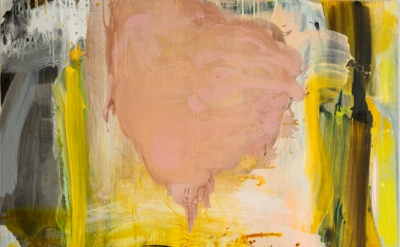 Carolanna Parlato, Above and Below, 2012, acrylic and spray paint on canvas, 52