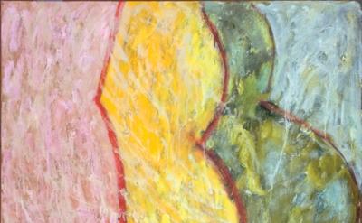 Pat Passlof, Melon 2, 2010-11, oil on linen, 60 x 48 inches, (Courtesy of Elizab
