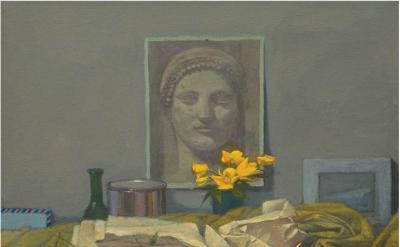 Gillian Pederson-Krag, Still Life, Oil on Canvas, 18 x 19 inches, 2005, Private