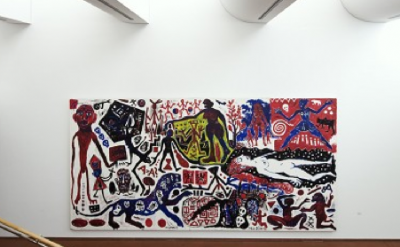 A.R. Penck, Me in Germany (West), 1984, Emulsion paint on canvas (c) VG Bild-Kun