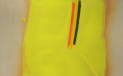 William Perehudoff, AC-81-039, 1981, acrylic on canvas, 53 1/3 x 53 inches (cour