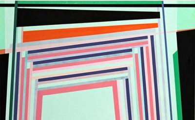 Gary Petersen, Green Light, 2011, acrylic & oil on masonite panel, 20 x 16 inche