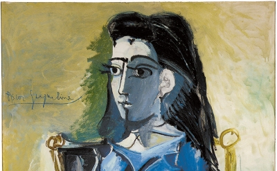 Pablo Picasso, Jacqueline Seated with Her Cat, 1964 (Private Collection/© 2014 E