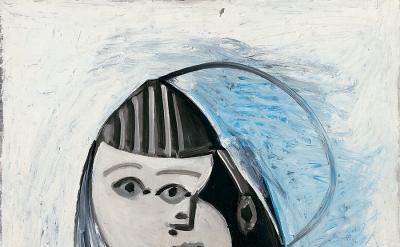 Pablo Picasso, Paloma et sa poupée, December 13, 1952, Oil on plywood, 28 3/4 x