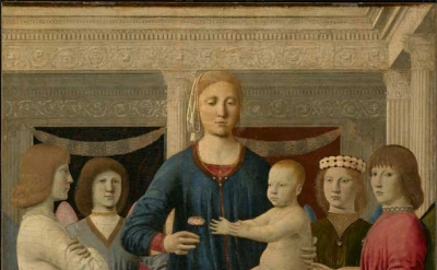 Piero della Francesca, Virgin and Child Enthroned with Four Angels, c. 1460-70,
