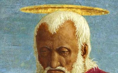 (detail) Piero Della Francesca, Saint John the Evangelist, 1454–69, oil and temp