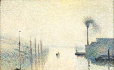 Camille Pissarro, La Seine à Rouen, L'Île Lacroix, effet de brouillard, 1888 (Philadelphia Museum of Art)