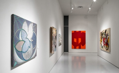 Installation view of In Plain Sight at McClain Gallery, Houston