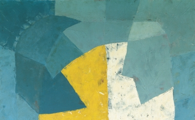 Serge Poliakoff, Composition abstraite, 1950, 51 x 38 inches (courtesy of Archiv