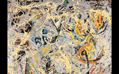 Jackson Pollock, Galaxy, 1947, oil and aluminum paint on canvas, 43½ x 34 inches