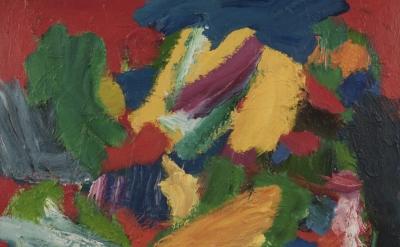 Fred Pollock, No.6, Through the Reef, 127 × 101 cm, acrylic on canvas (courtesy