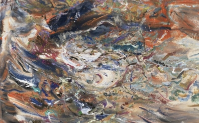 Larry Poons, Untitled, 2012, acrylic on canvas, 65.5 x 66 inches (courtesy of Lo
