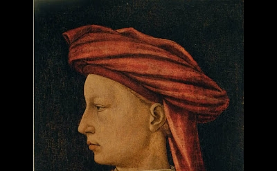 Florentine Artist (Piero Uccello?), Profile of a Man, c. 1430-40, tempera on woo