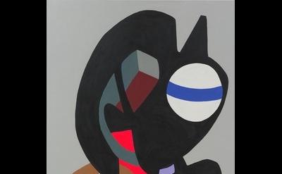 Hayal Pozanti, Stratus Chant, 2013, acrylic on wood, 75 x 40 inches (courtesy of