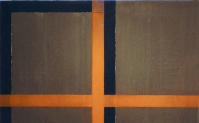 Harvey Quaytman, Pyrite Hallway, 1988, acrylic and rust on canvas, 29 x 29 inche
