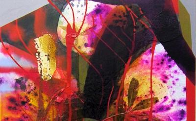 Erika Ranee, Bayswater, 2016, mixed media on canvas, 48 x 36 inches (courtesy of