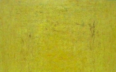 Rebecca Purdum, Hourglass (yellow), 2011, 32 x 23 inches, oil on panel (courtesy