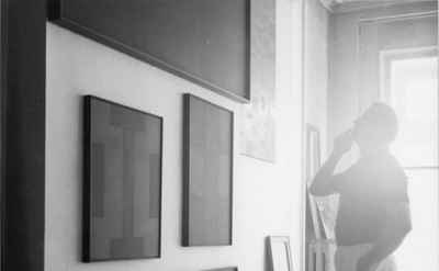 Ad Reinhardt in his studio (courtesy the Ad Reinhardt Foundation)