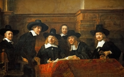 Rembrandt, The Syndics of the Amsterdam Drapers' Guild, 1662, oil on canvas, 75.
