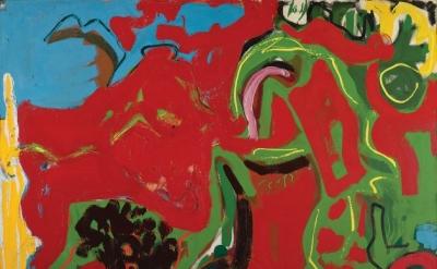 Deborah Remington, Apropos or Untitled, 1953, oil paint on canvas (Denver Art Museum: Vance H. Kirkland Acquisition Fund, 2015.225. Courtesy of the Deborah Remington Charitable Trust for the Visual Arts)
