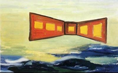 René Daniëls, The Battle for the Twentieth Century, 1984, oil on canvas, 100 by
