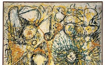 Richard Pousette-Dart, East River Sun, 1947-1949, Oil on linen, 55 1/2 x 37 1/2