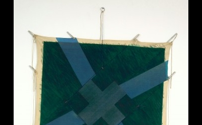 Richard Smith, Double Cross (Grey) (E), 1977, acrylic, oil & charcoal on canvas,