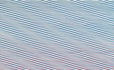 Bridget Riley, Cataract 3, 1967, PVA on canvas, 88.5 x 87.5 inches (© Bridget Ri