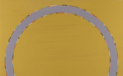 Carol Robertson, Circular Stories - Alayrac Ochre, 2013, oil on canvas 84 x 84 i