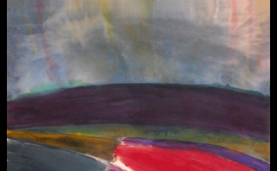 Ronnie Landfield, Franz Kline in Provincetown, 2010, acrylic on canvas, 88 x 81