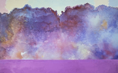 Ronnie Landfield, Diamond Lake, 1969, Acrylic on canvas, 108 x 168 inches, Museu
