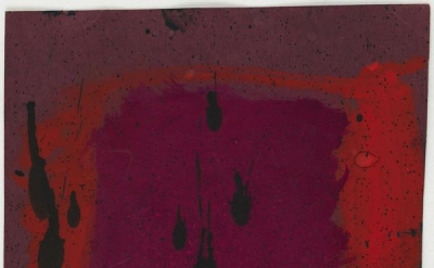 Mark Rothko, Untitled (Study for Harvard Mural) (verso), c. 1961, opaque waterco