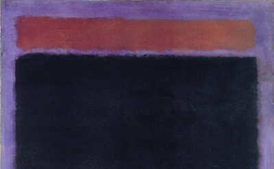 Mark Rothko, Untitled (Rust, Blacks on Plum), 1962, oil on canvas, 60 x 57 inches (Private Collection, Santa Monica © 1998 Kate Rothko Prizel & Christopher Rothko / Artists Rights Society (ARS), NY, Photo courtesy of The Mark Rothko Foundation)