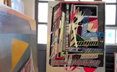Eric Sall, Studio View (courtesy of the artist, screen capture from Gorky's Gran