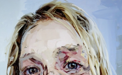 Jenny Saville, Bleach, 2008, oil on canvas, 99.25 x 73.5 inches (collection of L