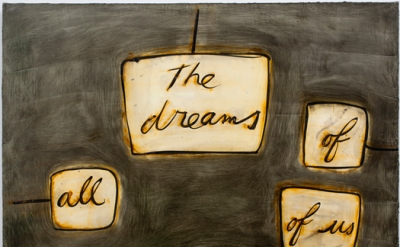 Mira Schor, The Dreams of All of Us, 2012, Ink, rabbit skin glue, oil, and gesso