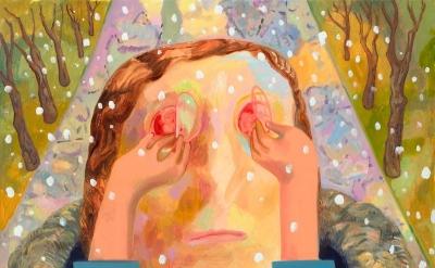 Dana Schutz, Ocular, 2010, oil, 118 x 101 inches (courtesy of the artist)