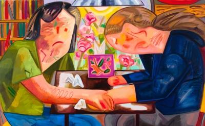Dana Schutz, Small Apartment 2012 Oil on canvas 57 x 83 inches (courtesy Friedri
