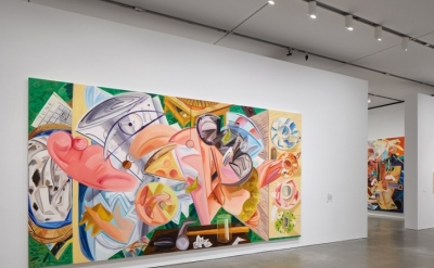 Installation view, Dana Schutz at The Institute of Contemporary Art/Boston, 2017 (photo by Charles Mayer Photographer © Dana Schutz)