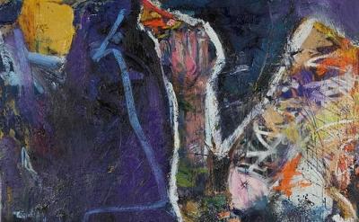 Karen Schwartz, Phoenix Of Sheepshead Bay, 72 x 60 inches, mixed media on linen,