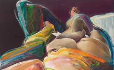 Joan Semmel, Purple Diagonal, 1980 (courtesy Alexander Gray Associates, New York