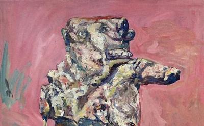 Eugen Schönebeck, Ginster, 1963, oil on canvas, 63 3/4 x 50 3/4 inches (courtesy