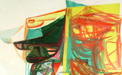 Amy Sillman, Psychology Today, 2006, oil on canvas, 84 x 72 inches (courtesy of