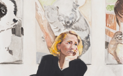 Nolan Simon, Women's Day, 2014, oil on canvas, 42 x 28 inches (courtesy of Nicel