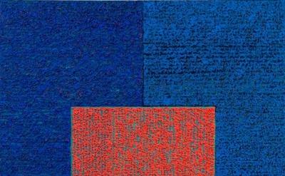 Louise P. Sloane, Bluebluecrl (Bounce), 2012, 60 x 48 inches, acrylic on canvas