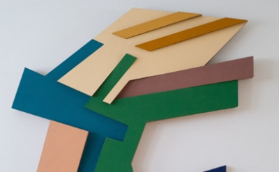 Frank Stella, Targowica III, 1973, felt and acrylic paint on Tri-Wall cardboard,