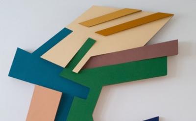 Frank Stella, Targowica III, 1973, felt and acrylic paint on Tri-Wall cardboard,