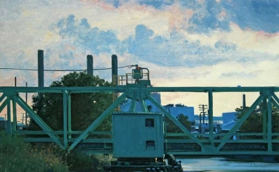 Stephen Magsig, Swing Bridge, 16 x 20 inches, oil on linen panel, 2010