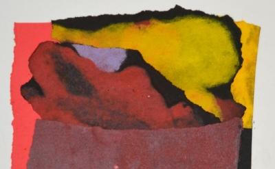 Mark Strand, Madrid, 2013, paper collage, 5 x 4 1/2 inches (courtesy of Lori Boo